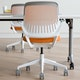 Orange Cobi Desk Chair, White Frame,Orange,hi-res