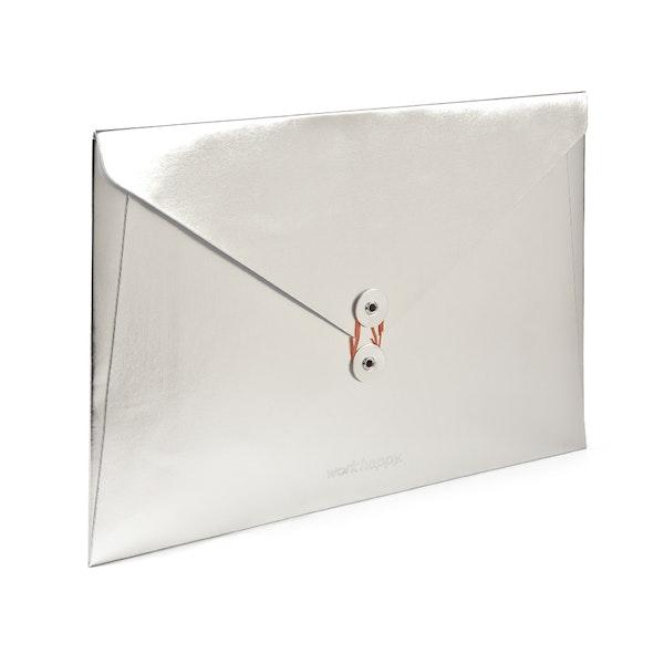 Silver Soft Cover Folio,Silver,hi-res