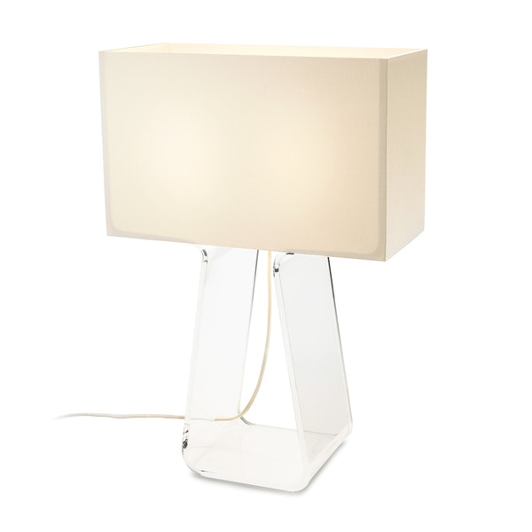 Clear Tube Top Lamp,White,hi-res
