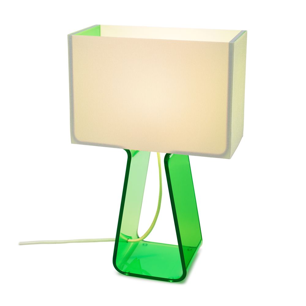 Green Tube Top Lamp,Green,hi Res