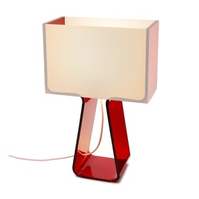 Red Tube Top Lamp
