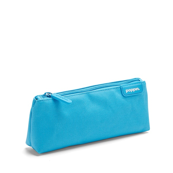 Pool Blue + Yellow Pencil Pouch,Pool Blue,hi-res