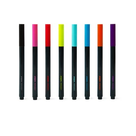 Assorted Slim Permanent Markers, Set of 8