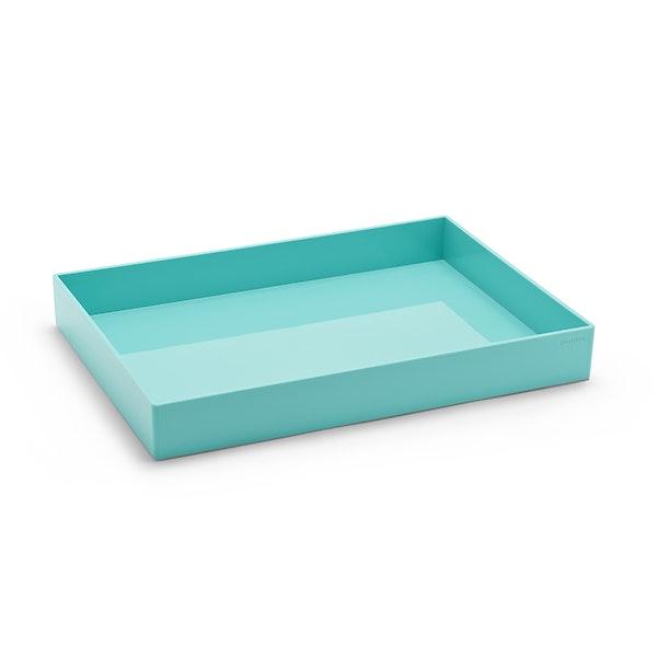 Aqua Large Accessory Tray,Aqua,hi-res