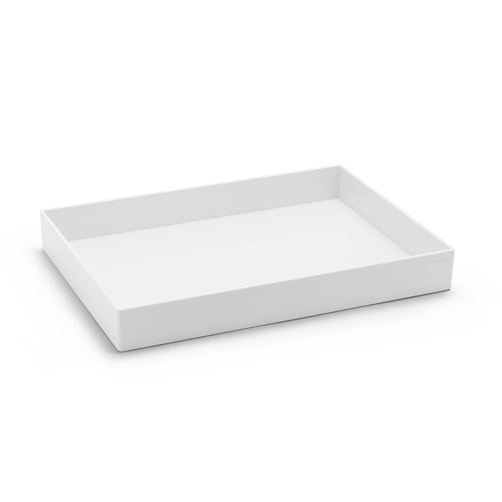 White Large Accessory Tray Hi Res