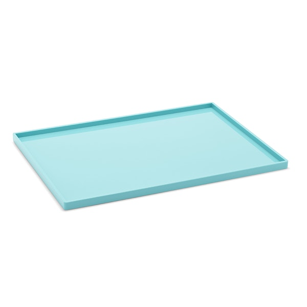 Aqua Large Slim Tray,Aqua,hi-res