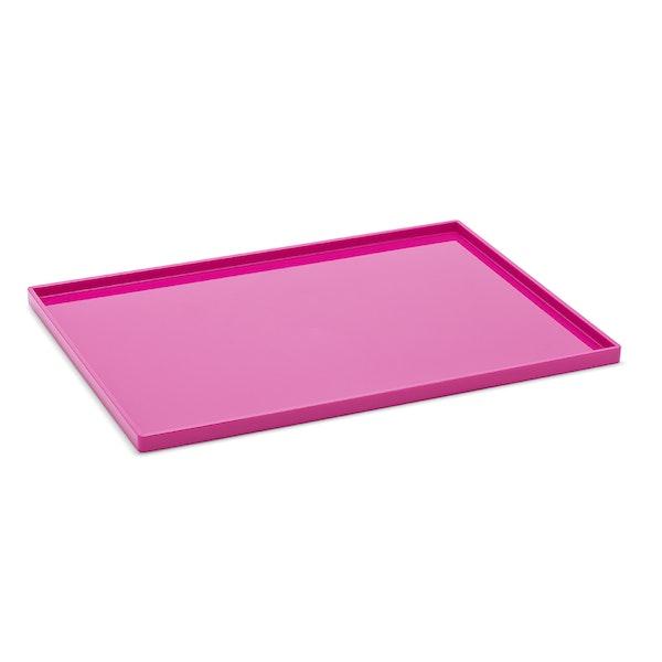 Pink Large Slim Tray,Pink,hi-res