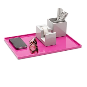 Pink Large Slim Tray,Pink,hi-res