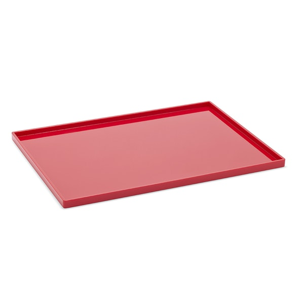 Red Large Slim Tray,Red,hi-res