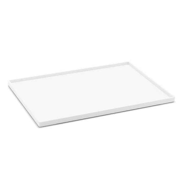 White Large Slim Tray,White,hi-res