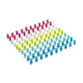 Assorted Push Pins, Box of 100