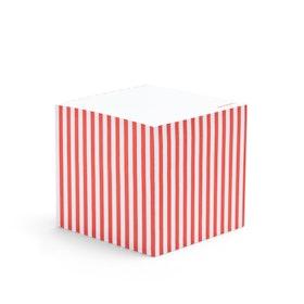 Coral Striped Memo Cube