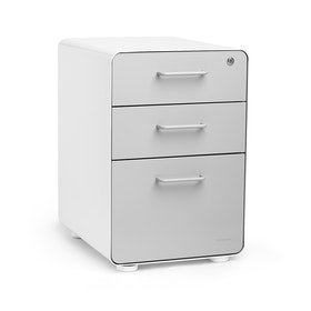 White + Light Gray Stow 3-Drawer File Cabinet,Light Gray,hi-res
