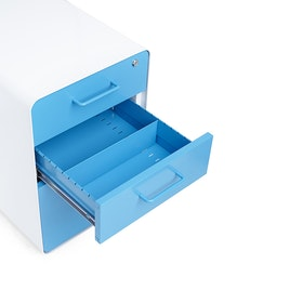 White + Pool Blue Stow 3-Drawer File Cabinet, Rolling,Pool Blue,hi-res