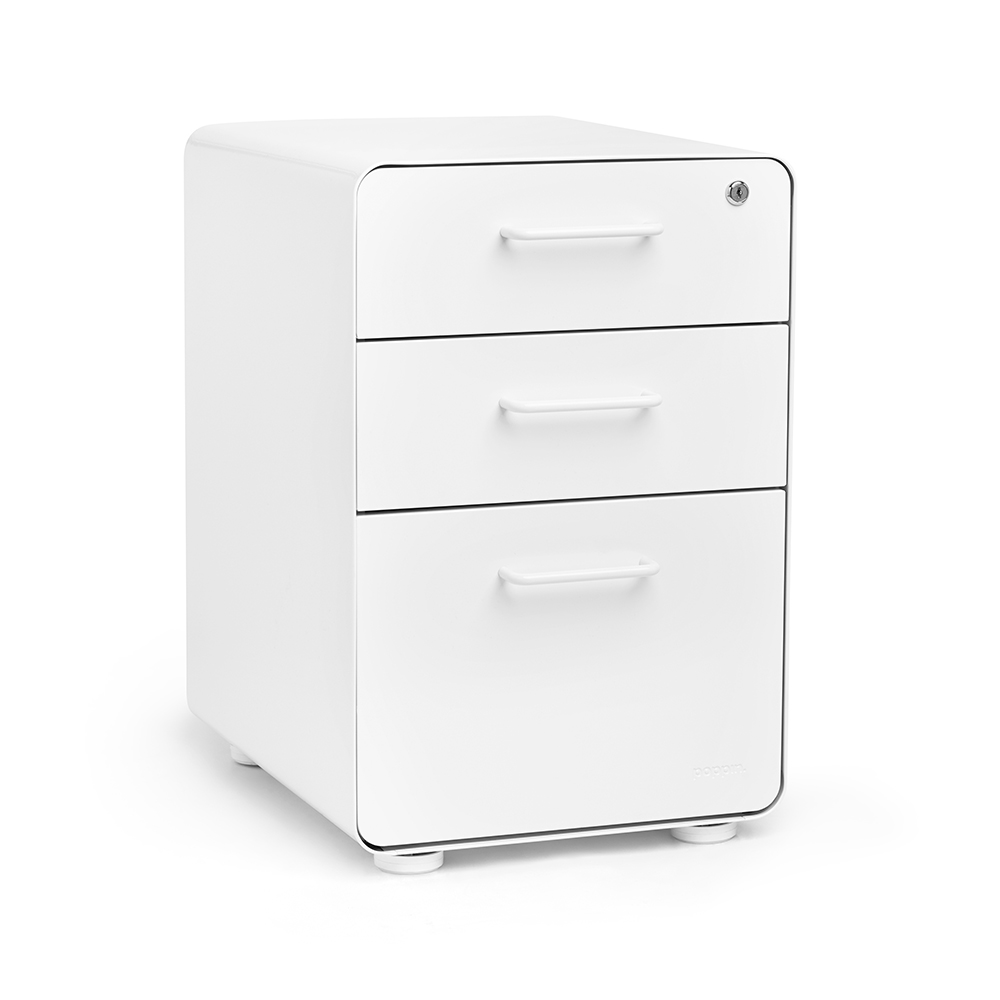 Stow 3 Drawer File Cabinet | Poppin