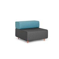 Dark Gray + Blue Block Party Lounge Chair,Dark Gray,hi-res
