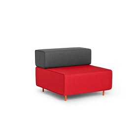 Red + Dark Gray Block Party Lounge Chair,Red,hi-res
