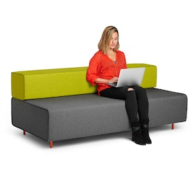 Dark Gray + Green Block Party Lounge Sofa