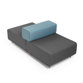 Dark Gray + Blue Block Party Lounge Back It Up Chair