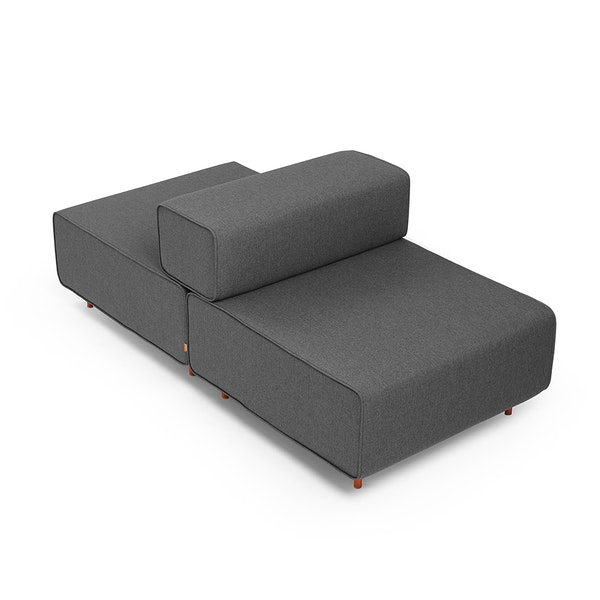 Dark Gray Block Party Lounge Back It Up Chair,Dark Gray,hi-res