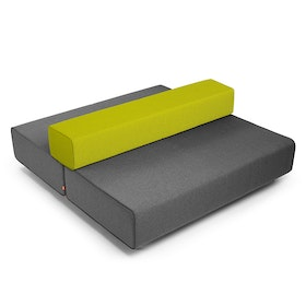 Dark Gray + Green Block Party Lounge Back It Up Sofa,Dark Gray,hi-res