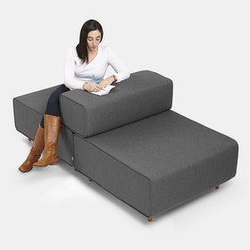 Dark Gray Block Party Lounge Back It Up Chair