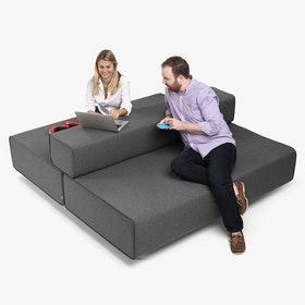 Dark Gray Block Party Lounge Back It Up Sofa,Dark Gray,hi-res