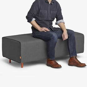 Dark Gray Block Party Lounge Bench