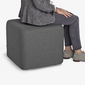 Dark Gray Block Party Lounge Ottoman,Dark Gray,hi-res