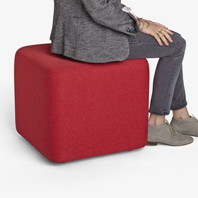 Red Block Party Lounge Ottoman,Red,hi-res