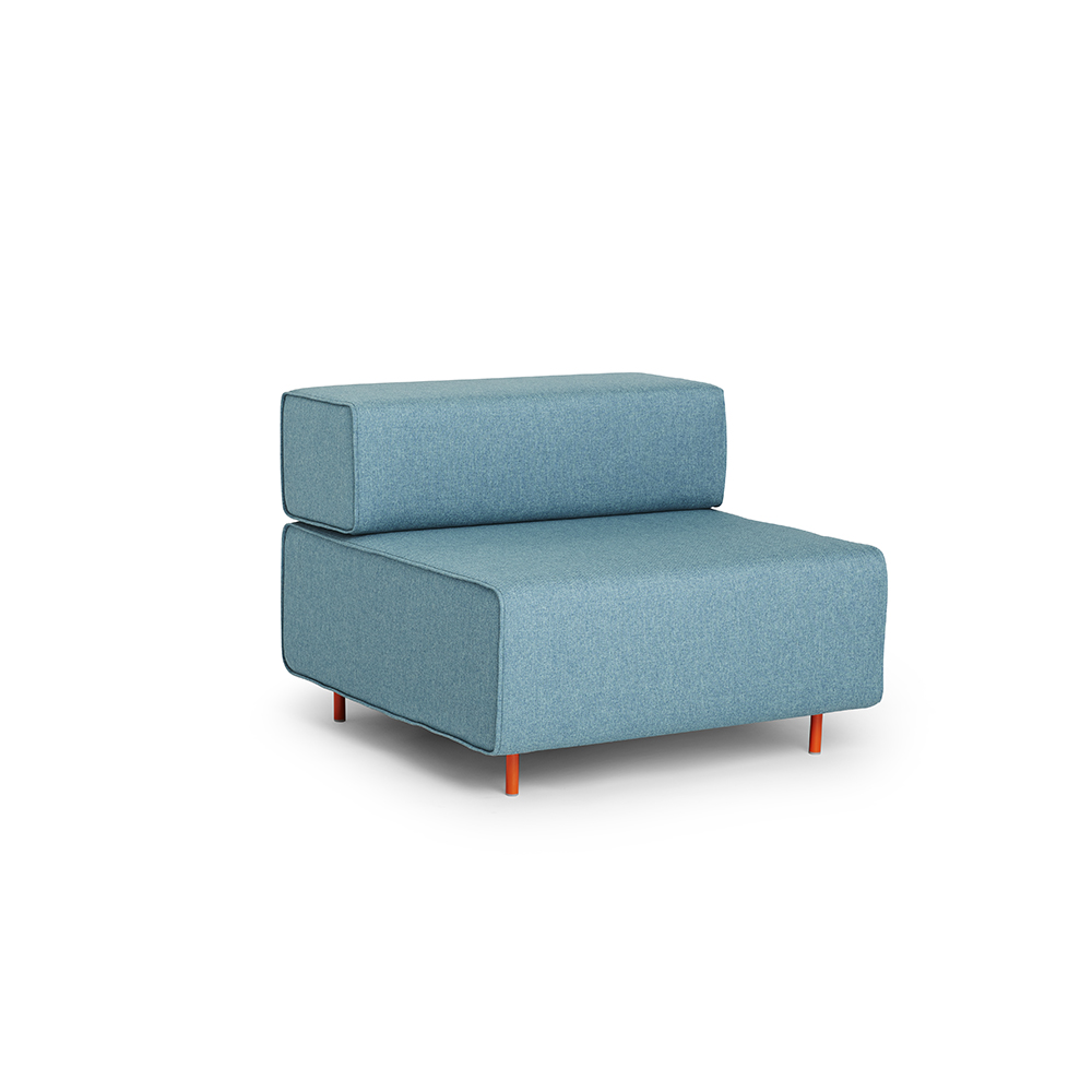 Blue Block Party Lounge Chair,Blue,hi Res. Loading Zoom
