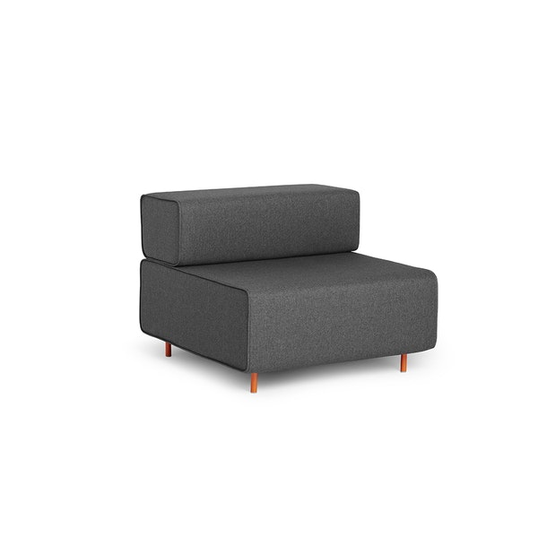 Dark Gray Block Party Lounge Chair,Dark Gray,hi-res