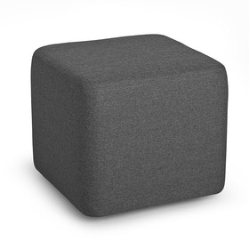 Dark Gray Block Party Lounge Ottoman