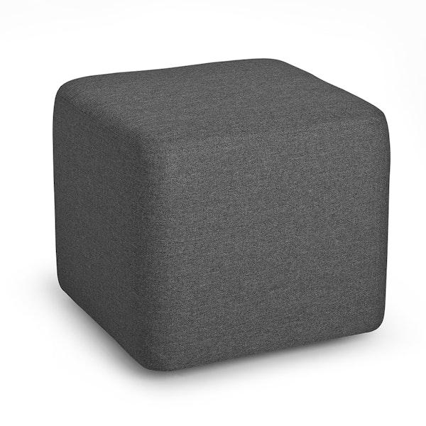 Dark Gray Block Party Lounge Ottoman,Dark Gray,hi-res