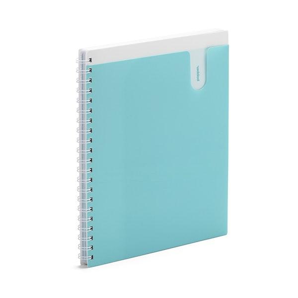 Aqua 3-Subject Pocket Spiral Notebook,Aqua,hi-res
