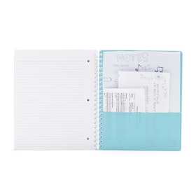 Aqua 3-Subject Pocket Spiral Notebook