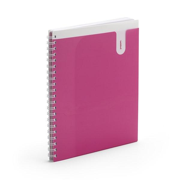 Pink 3-Subject Pocket Spiral Notebook,Pink,hi-res