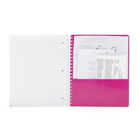 Pink 3-Subject Pocket Spiral Notebook,Pink,hi-res