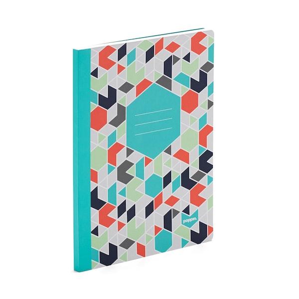 Aqua Geo Composition Book,Aqua,hi-res