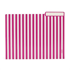 Classic Assorted Striped File Folders, Set of 6