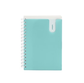 Aqua Medium Pocket Spiral Notebook