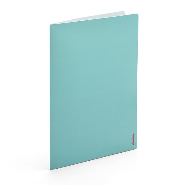 Aqua + Light Gray 2-Pocket Poly Folder,Aqua,hi-res