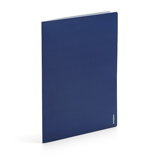 Navy + Mint 2-Pocket Poly Folder,Navy,hi-res