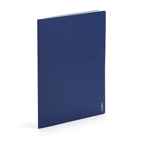 Navy + Mint 2-Pocket Poly Folder,Navy,hi-res