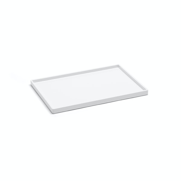 White Medium Slim Tray,White,hi-res