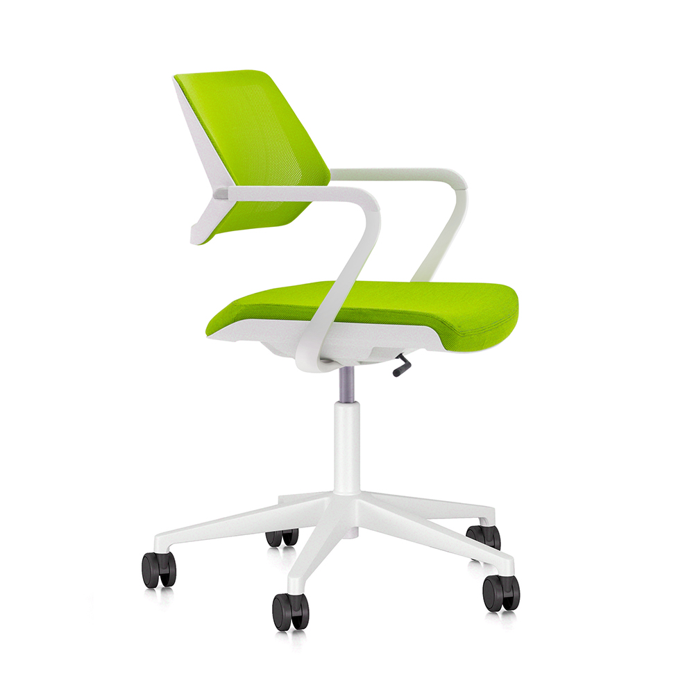lime green qivi desk chair modern office furniture poppin