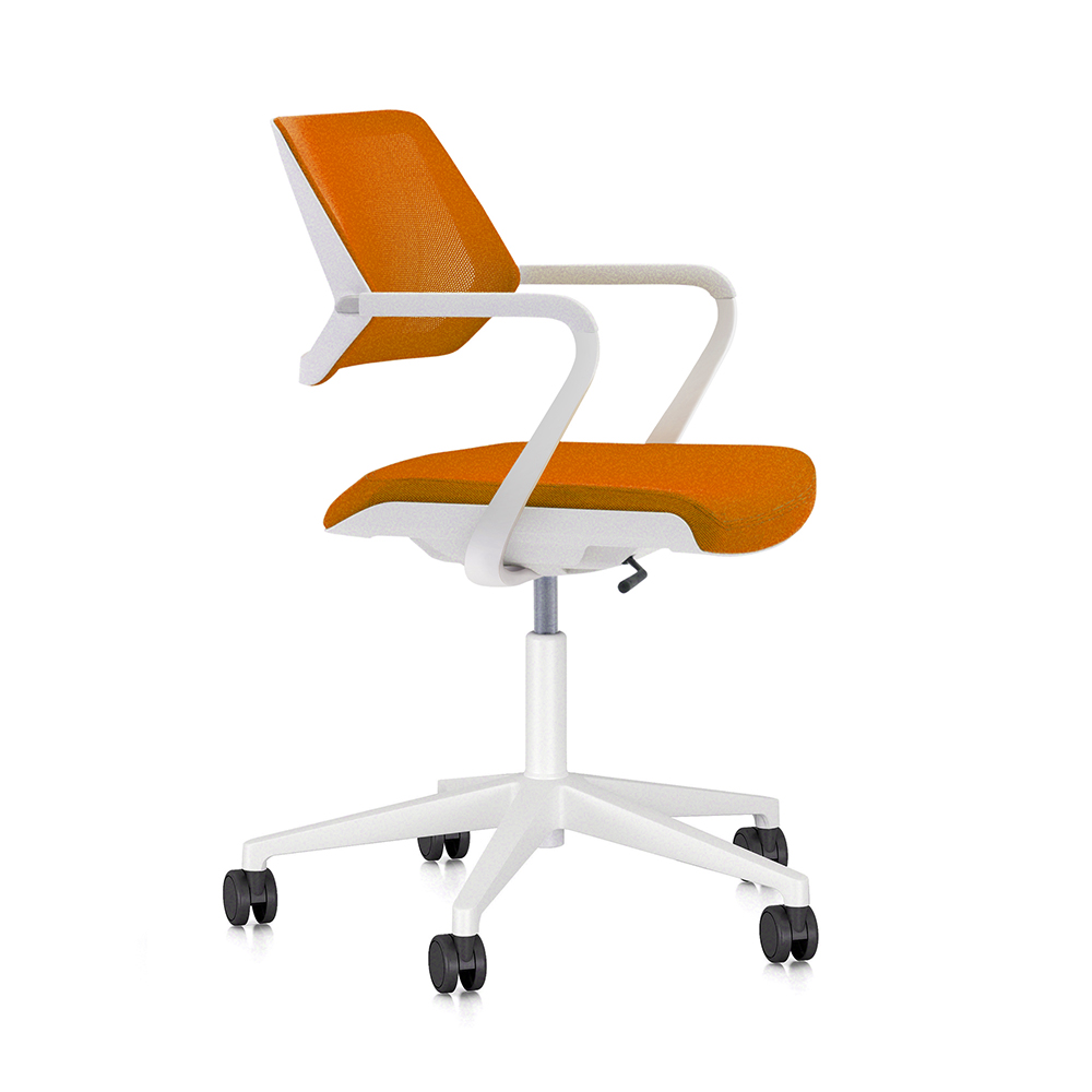 Orange Qivi Desk ChairOrangehi-res  sc 1 st  Poppin & Qivi Desk Chair | Modern Office Furniture | Poppin