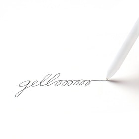 Custom White Retractable Gel Luxe Pen with Black Ink,White,hi-res