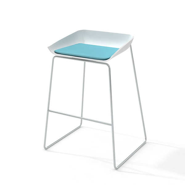 Images Scoop Bar Stool Aqua