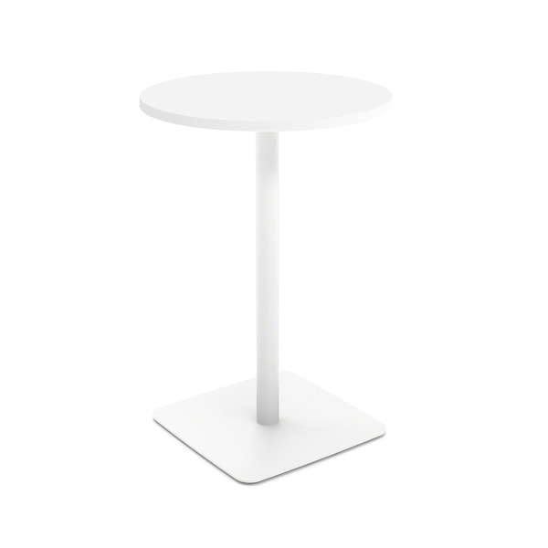 White Simple Round Stand-up Table,,hi-res